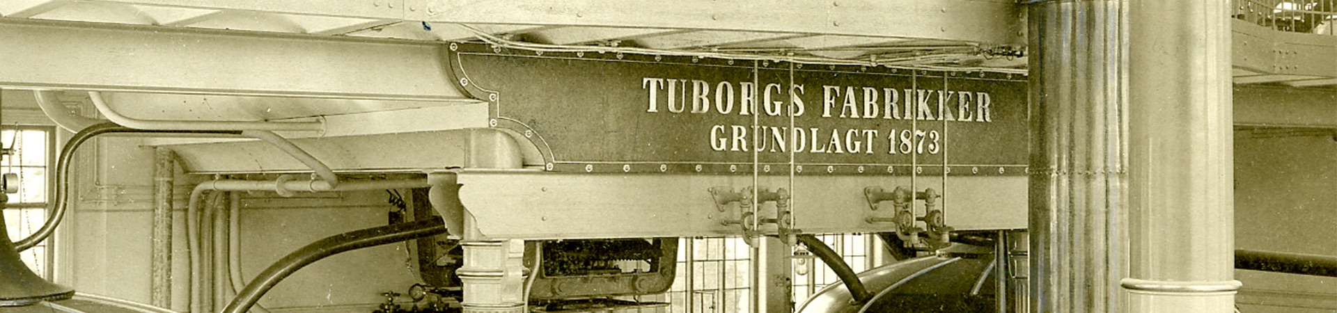 inside the Tuborg brewery facilities in 1953